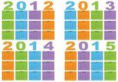 Kalender von 2012 bis 2015