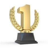 Első helyen trófeát kupa