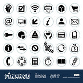 Finance and Internet icons set Hand drawn vector isolated on white