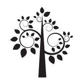 Černá silueta stromu