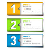 3 pieces of different colors option cards