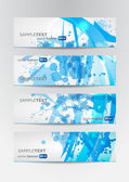 Set of four abstract blue banners