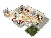 3D plán prostorového uspořádání