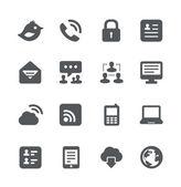 Internet communication simple minimalistic icons set