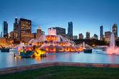 Immagine della fontana del buckingham a grant park, chicago, illinois, usa