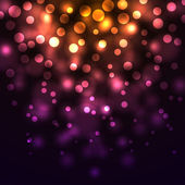 Abstract falling lights dark background