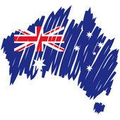 Zászló Ausztrália Térkép