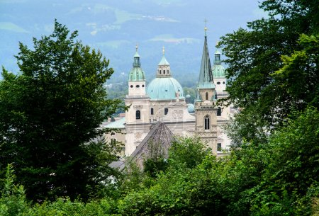 Постер, плакат: Cathedrals of Salzburg, холст на подрамнике