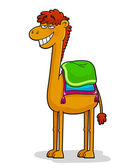 Funny cartoon camel