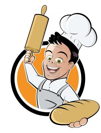 卡通面包师