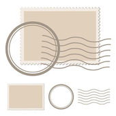 Blank post stamp - illustration for the web