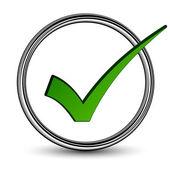 Positive checkmark - illustration for the web