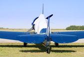 World War II blue airplane
