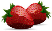 This is a vector illustration of strawberries