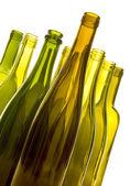 Prázdné láhve vína