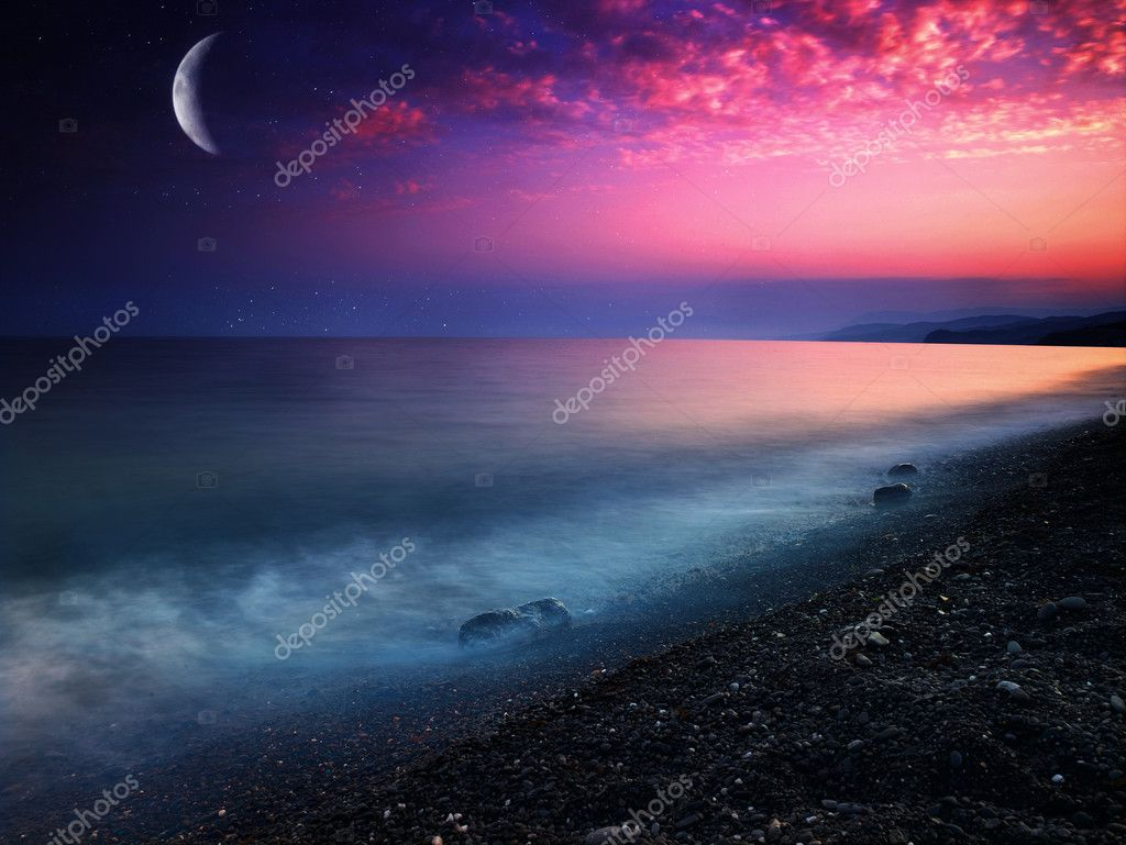 Mystical sea. Abstract natural backgrounds