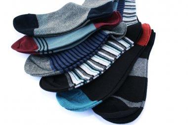 Socks on white