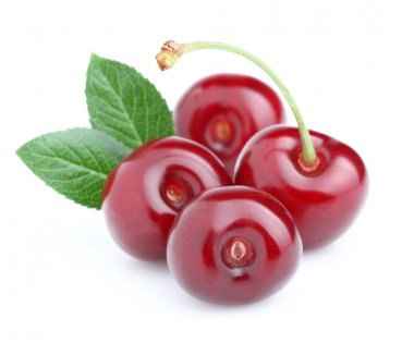 Ripe cherry in closeup