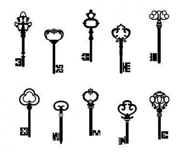 Old antique keys