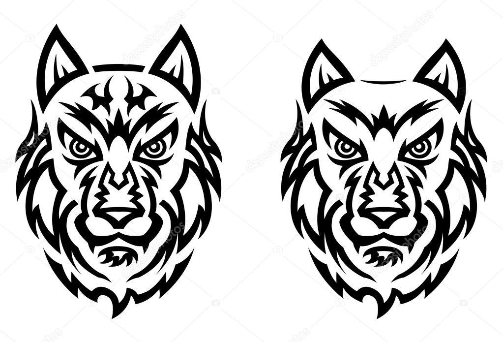 Tatuaż Tribal Wilk Grafika Wektorowa Buchan 11078232