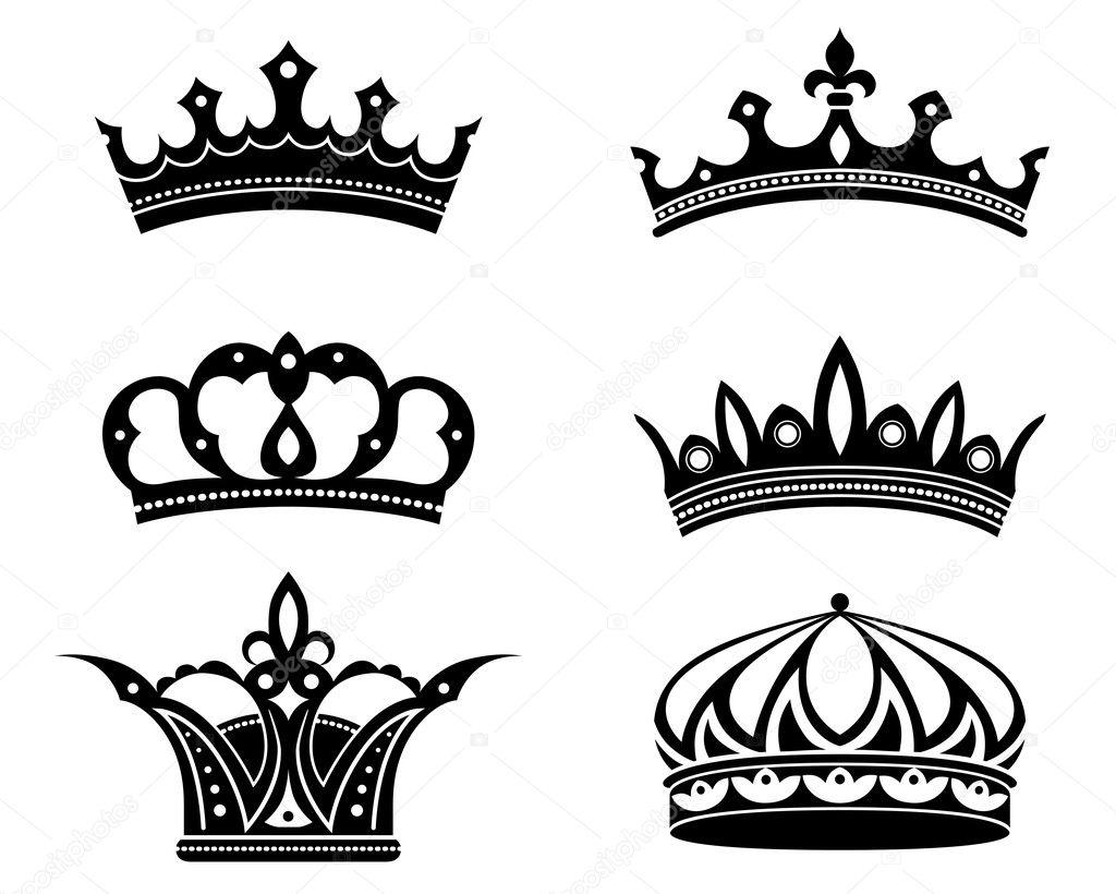 Vectores: Coronas De Reinas