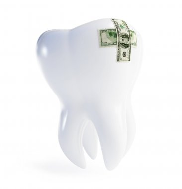 Repair a tooth patch on the dollar