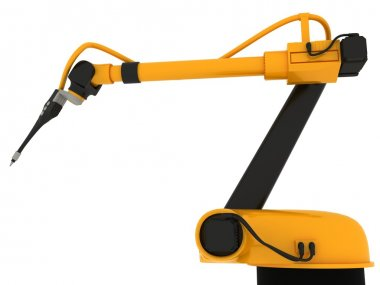 Industrial Robotic Arm Isolated