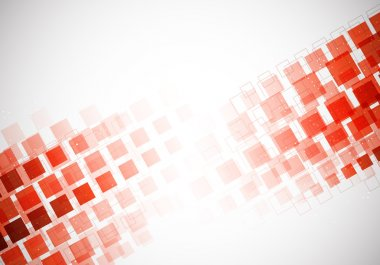 Bright background with red squares and light clip art vector