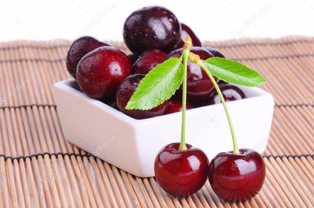Juicy ripe cherries
