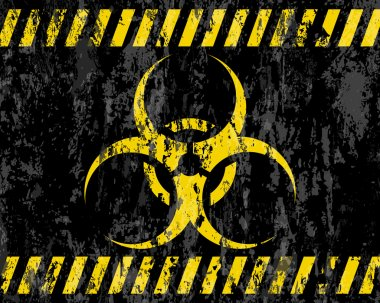 Grunge biohazard sign background