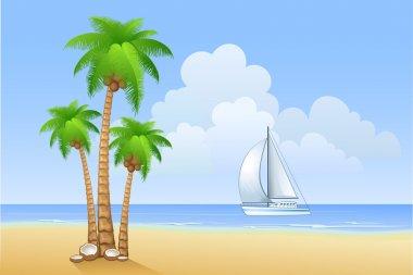 Beach of island