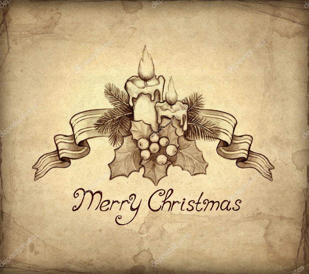Old Christmas Greeting Card Stock Photo C Sashsmir 11458591