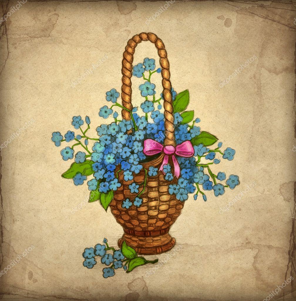 gamla gratulationskort gamla gratulationskort med kmed blommor — Stockfotografi  gamla gratulationskort
