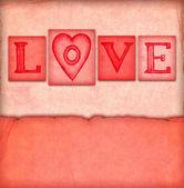 szüreti Valentin kártya