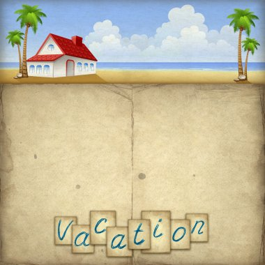 Vacation background with house