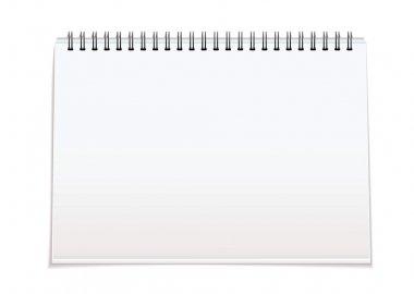 Spiral bound blank pad