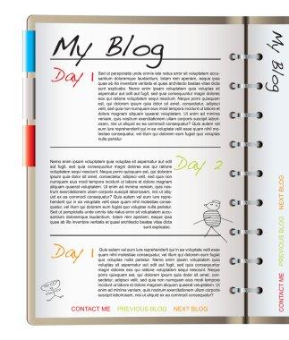 Web blog page