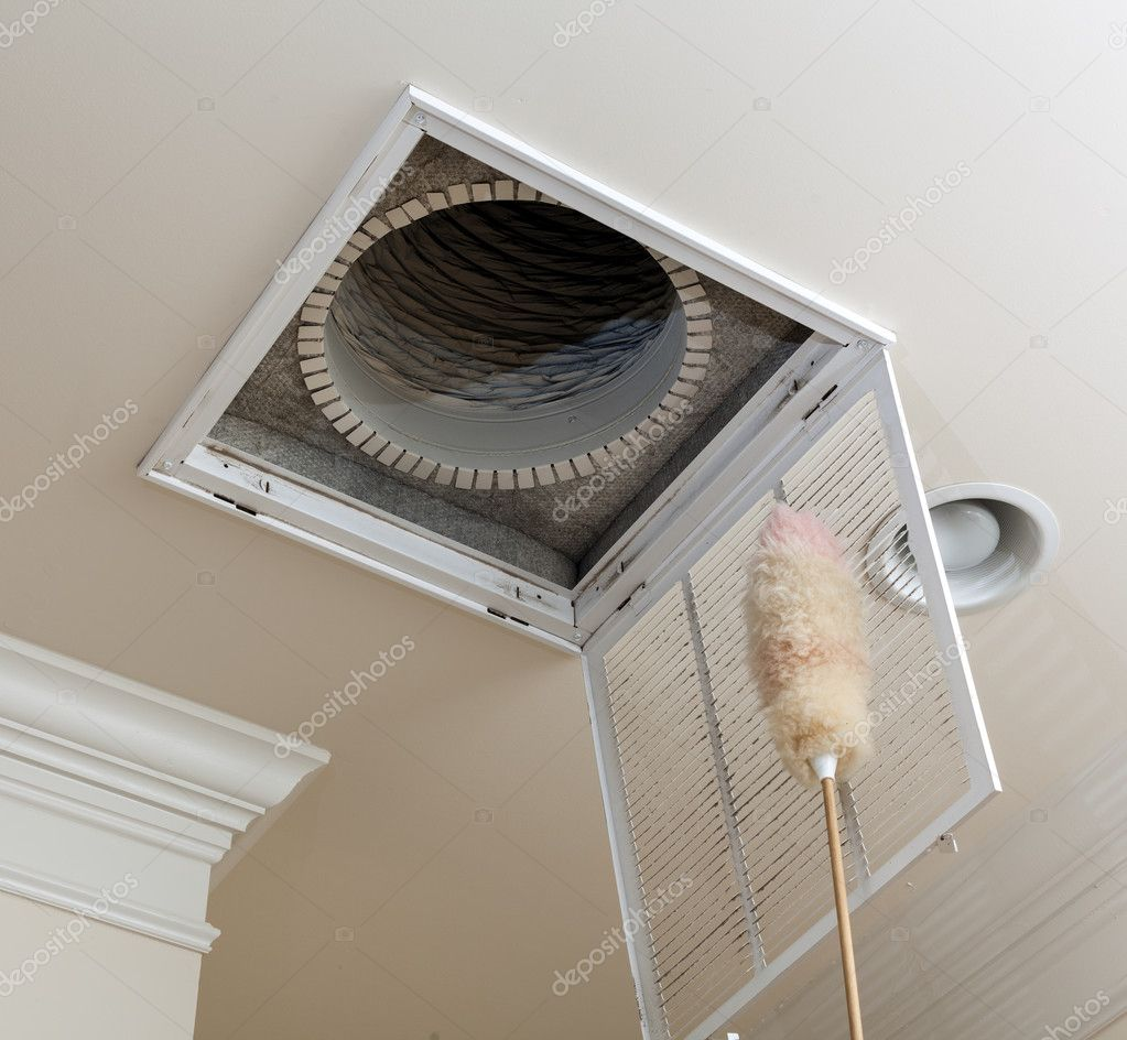 Dusting Vent For Air Conditioning Filter In Ceiling Stock Photo