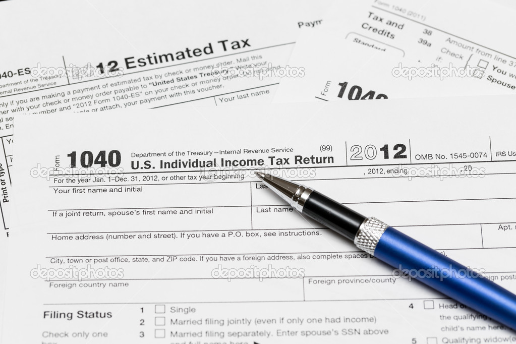 Usa Tax Form 1040 For Year 2012 Stock Photo Steveheap 12380181