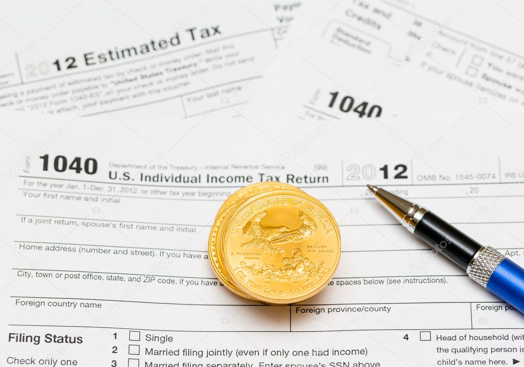 Usa Tax Form 1040 For Year 2012 Stock Photo Steveheap 12380184