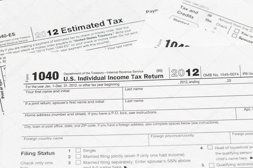 Usa Tax Form 1040 For Year 2012 Stock Photo Steveheap 12380189