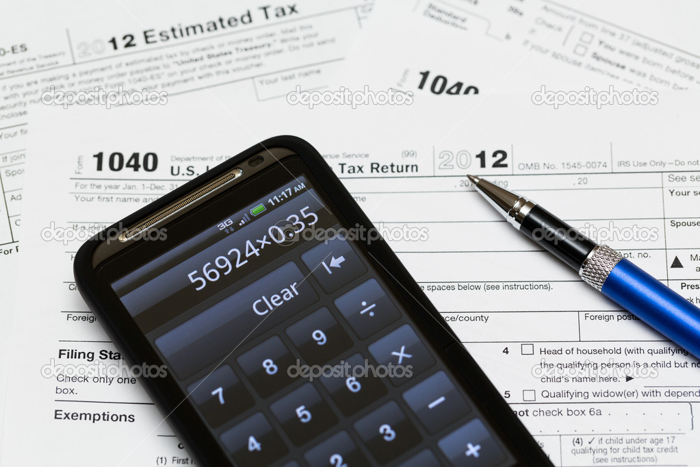 Usa Tax Form 1040 For Year 2012 Stock Photo Steveheap 12380190