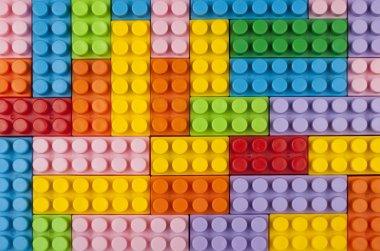 Plastic blocks background