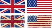 Fotografia bandiere inglesi e americani
