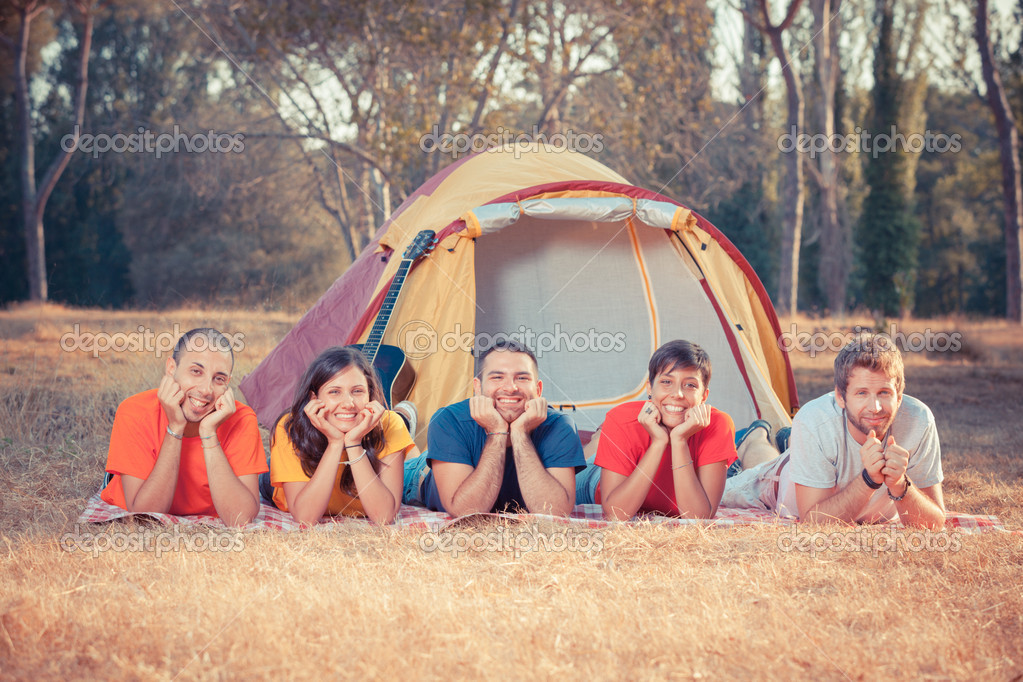 Young Camping