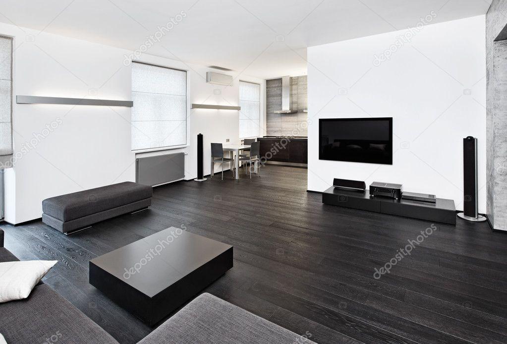Interieur in moderne minimalisme stijl zitkamer u stockfoto