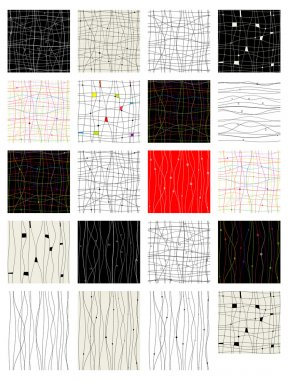Set of abstract seamless pattern for your design