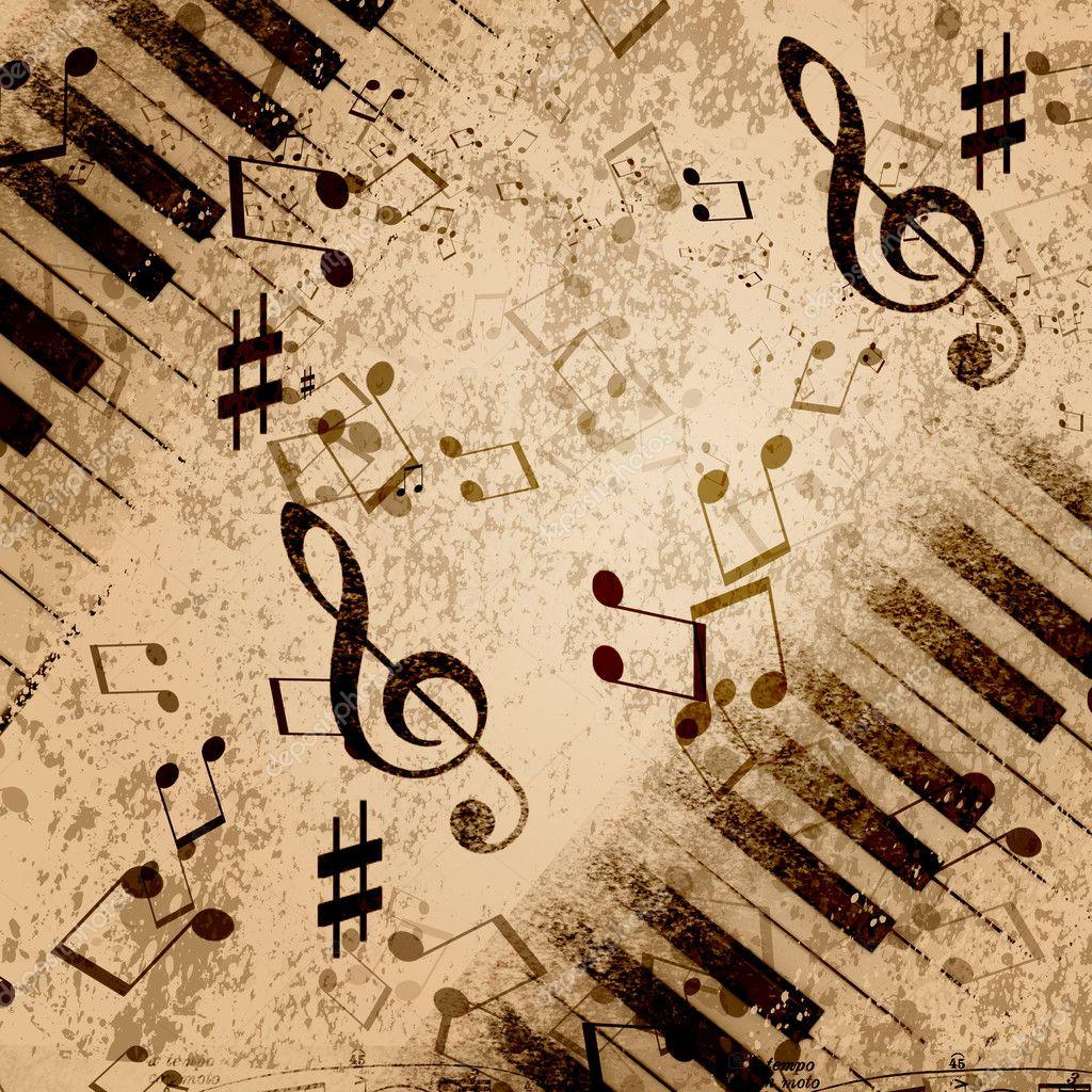 Music notes background — Stock Photo © SergeyNivens #11168113