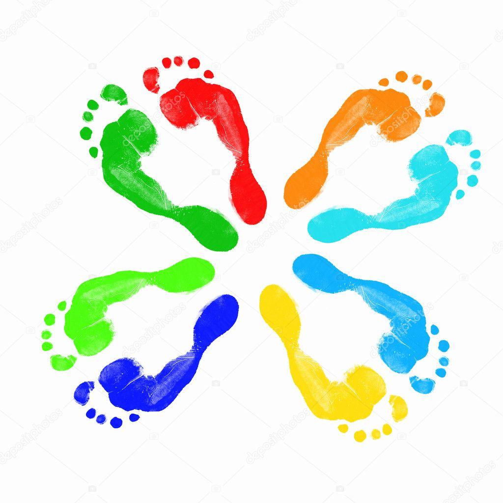 Impronte di piedi umani foto stock sergeynivens 11348193 for Piani di studio 300 piedi quadrati
