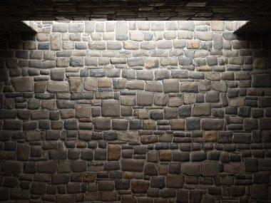 Dirty brick wall